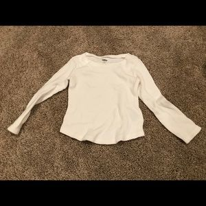 White long sleeve thermal shirt